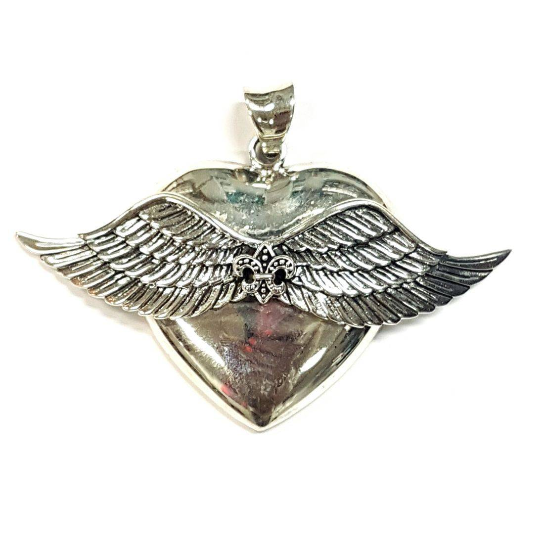 Wings Heart Pendant  available at Kazbah online and our Leicester City Centre shop