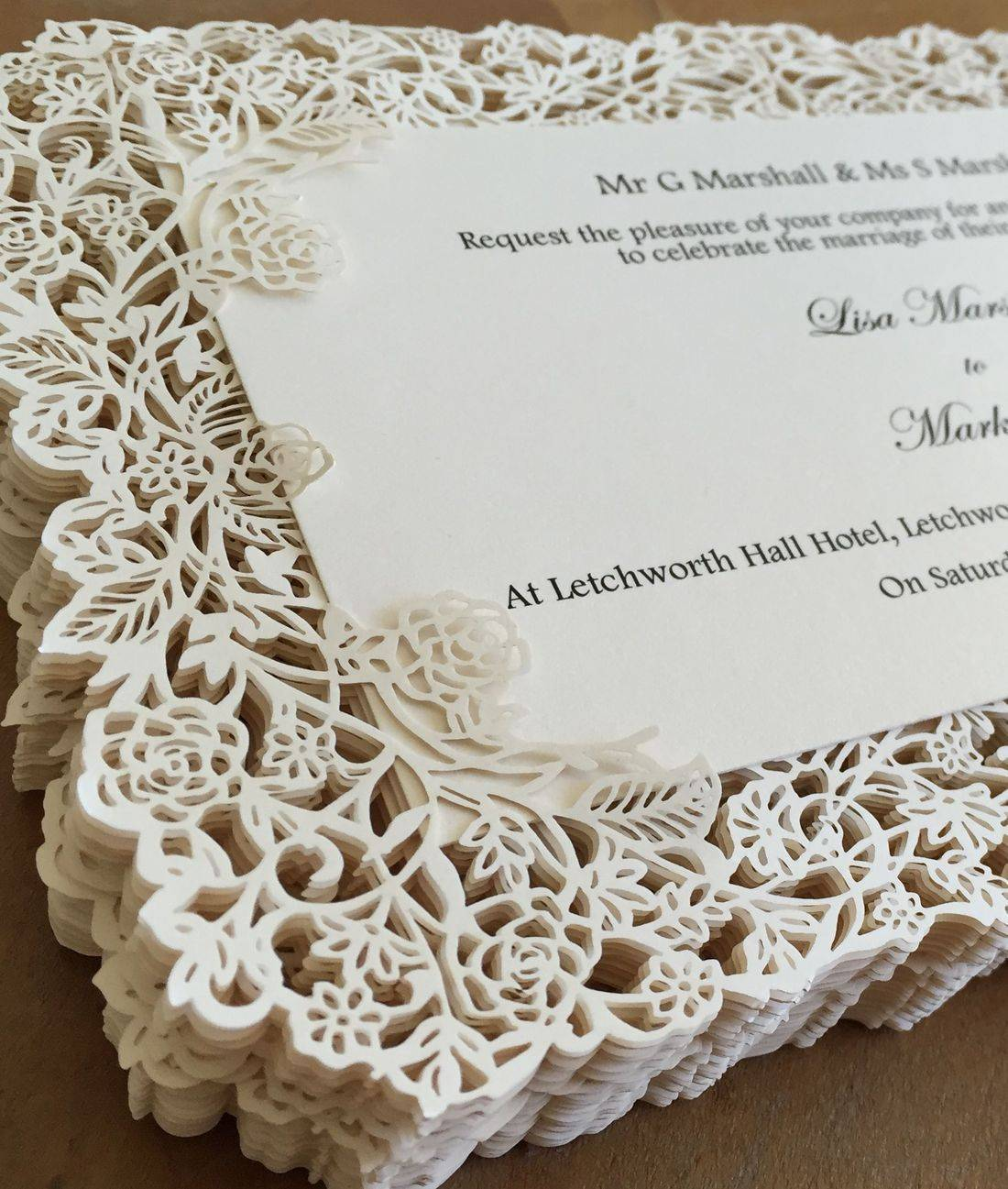 lasercut wedding invitation, wedding invitations, luxury wedding invitations