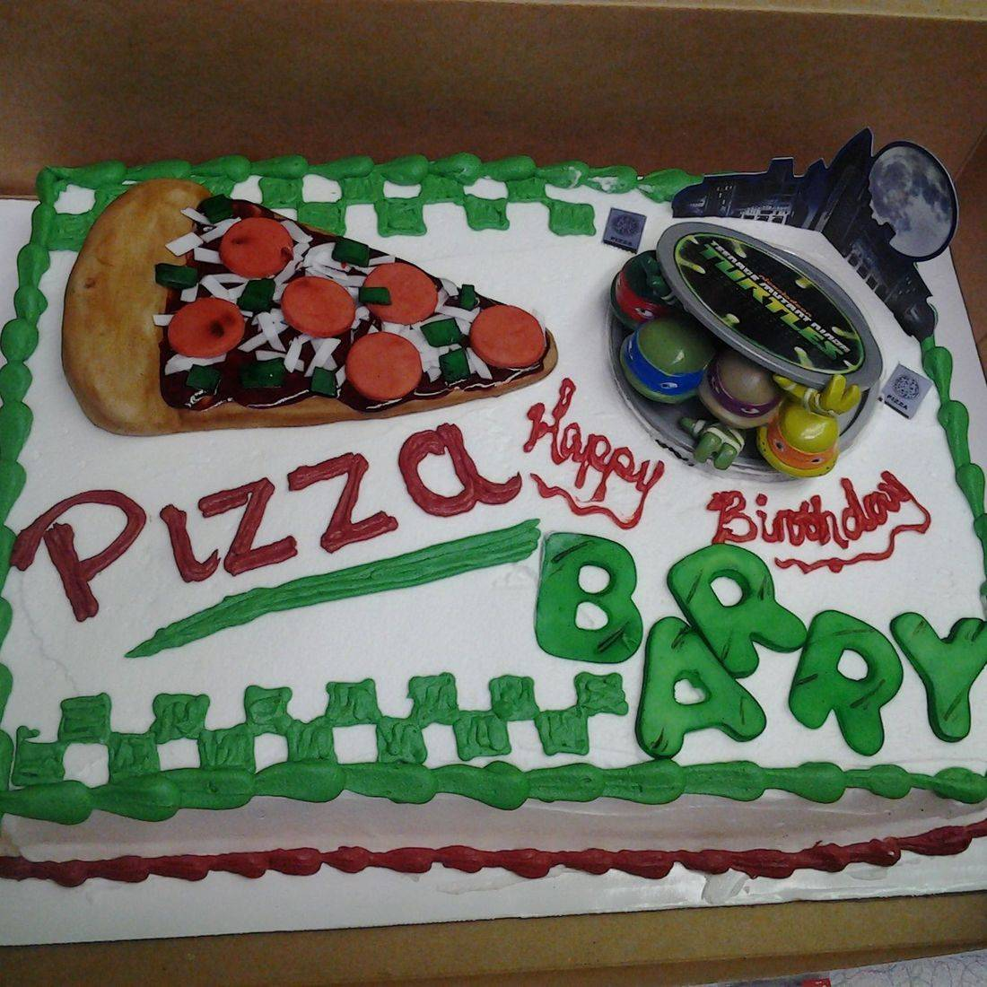 TMNT teenage mutant ninja turtles cake birthday boy