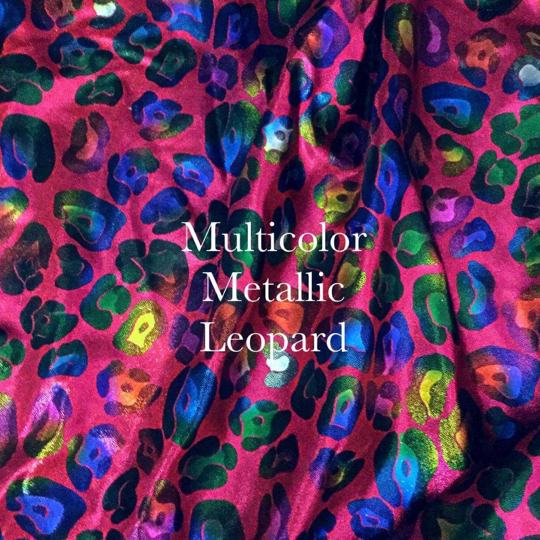 ruby leaopard metallic print