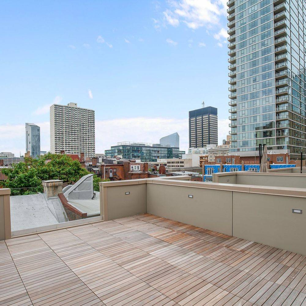 Brand New Wood Rooftop Deck in Philadelphia