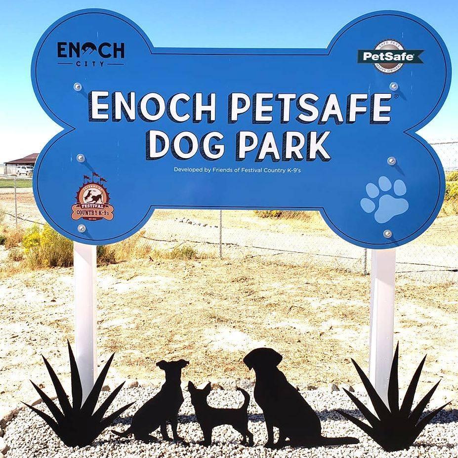 Enoch Dog Park Sign