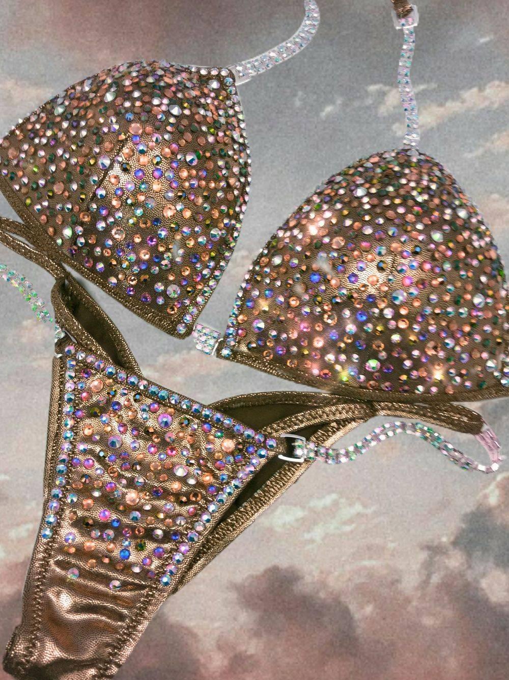 copper competition bikini