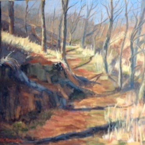 Brazos Trail, Texas Trail, Winter in Texas, Western Art