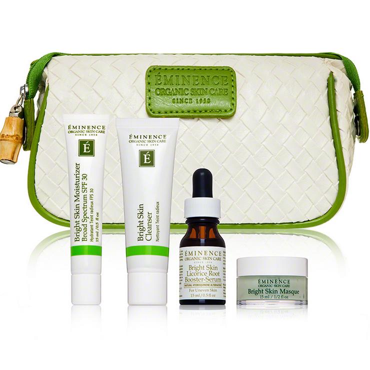 Eminence Bright Skin Starter Set, organic skincare, Eminence ottawa, exhalo spa, barrhaven spa, barrhaven salon