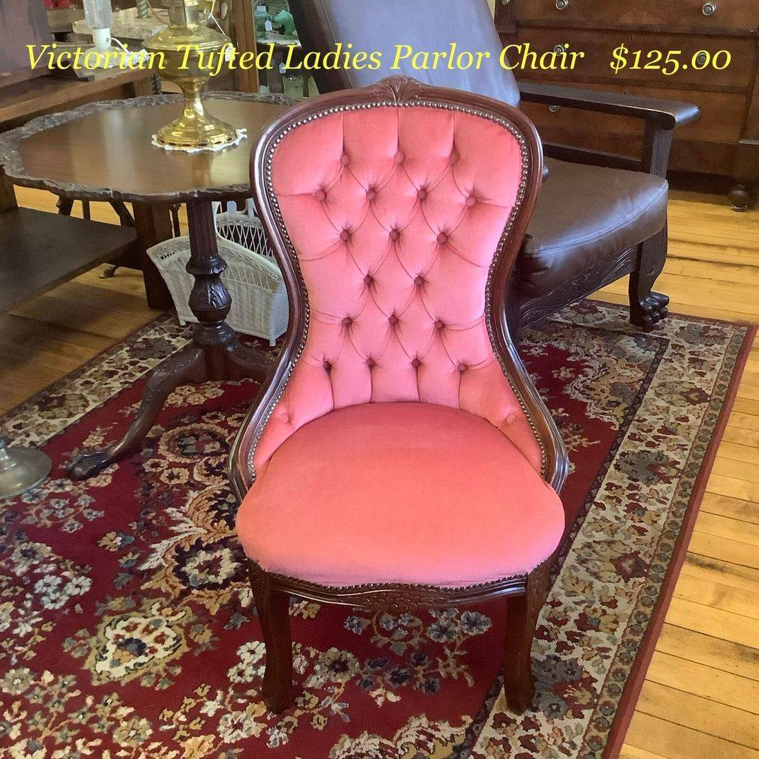 Victorian Tufted Ladies Parlor Chair   $125.00