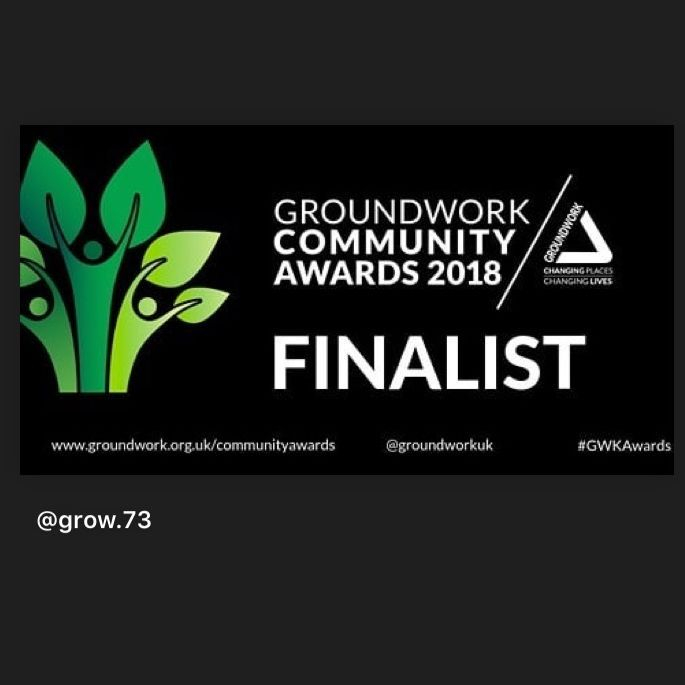 Grow 73 and The Ruglen Ropewalk finalists for A Groundworks Community Award 2018