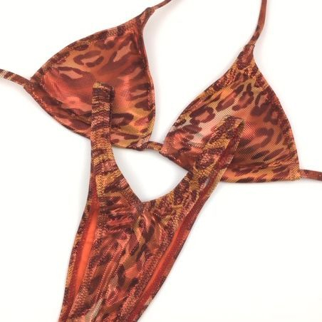 leopard print   figure suit