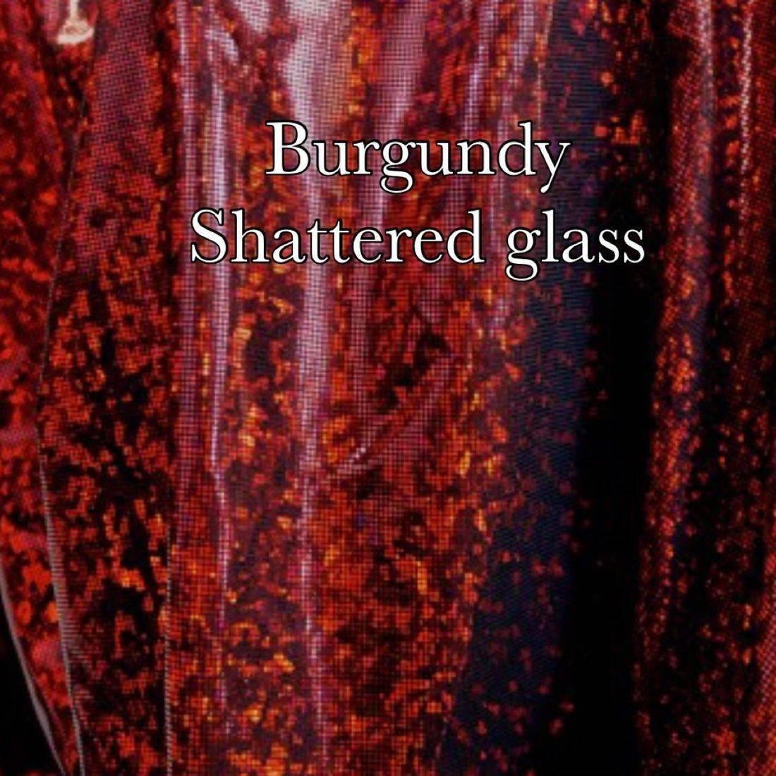 Burgundy shattered glass