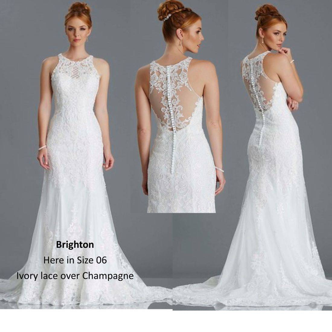 Illusion back with lace and beading
