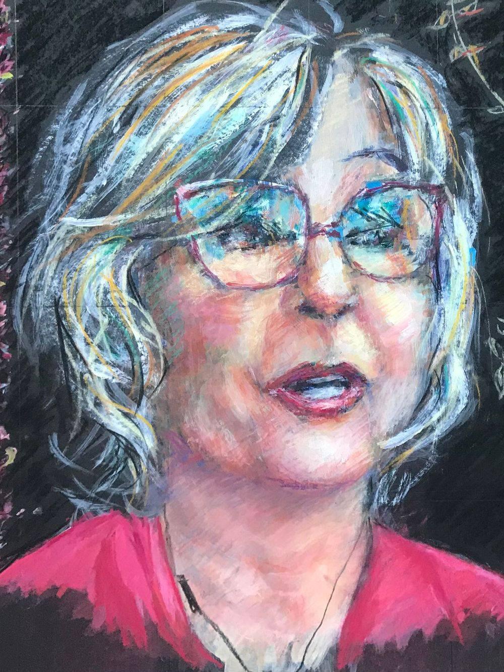 Lesley Garrett, portrait by Marcia Kuperberg
