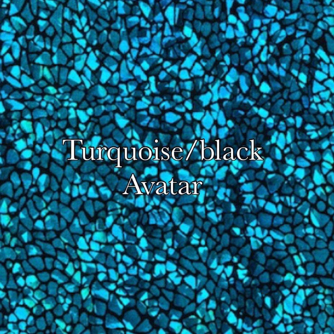 Turquoise black avatar