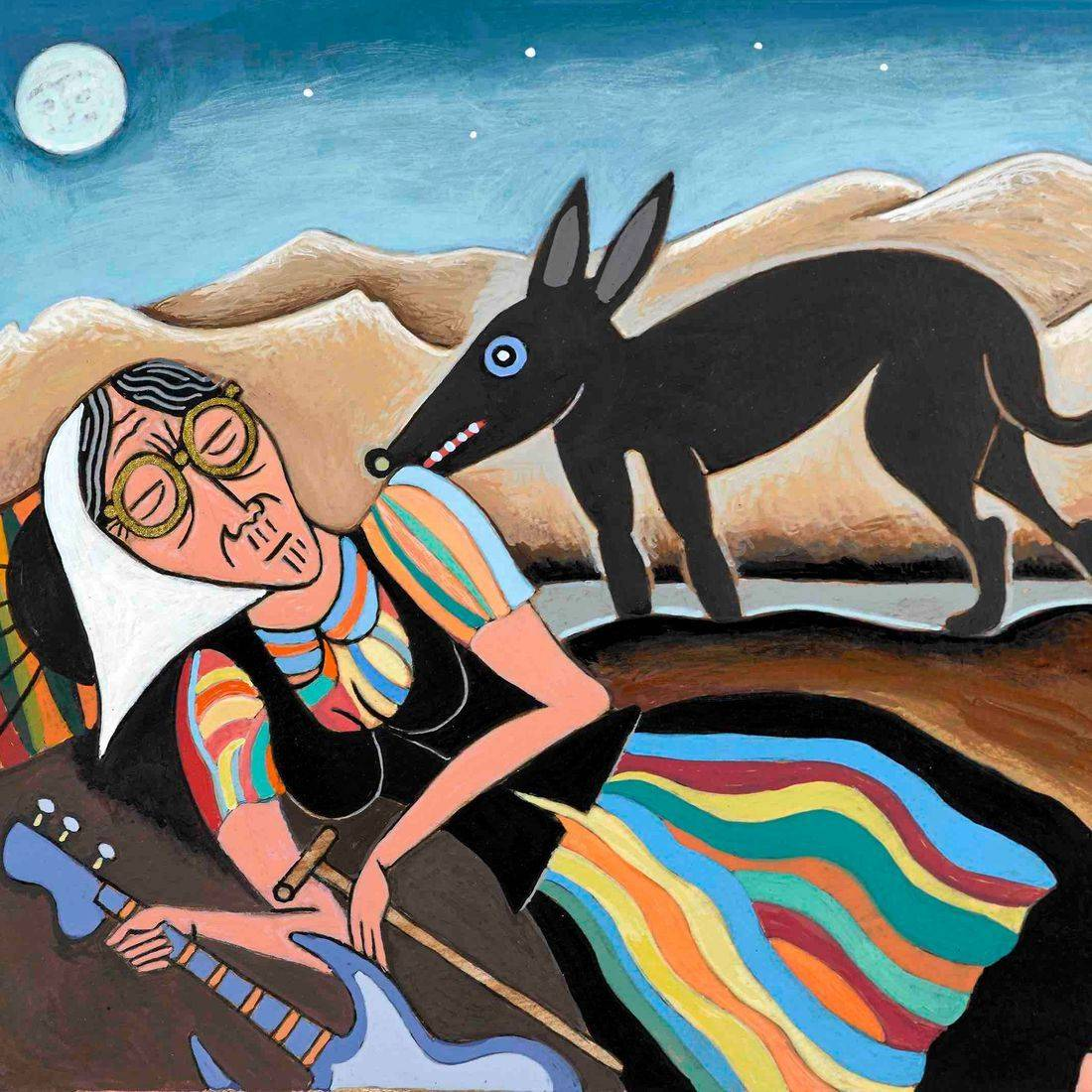 The Sleeping Gypsy, Henri Rousseau, Babka, Grandmother, Desert, Lobo, Wolf, Repose, Sleeping