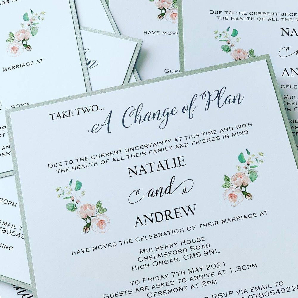 Change of wedding plans