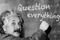 Great writers ask great questions - like Einstein.
