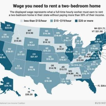 image map of us text wage needed to rent a 2 bedroom apartment