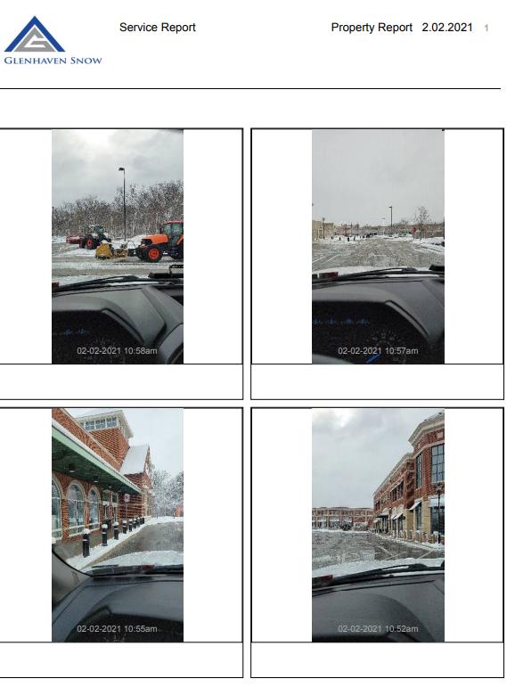 Glenhaven Snow Company Active Storm Service Update