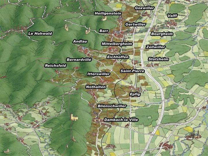 Carte du pays Barr et Bernstein