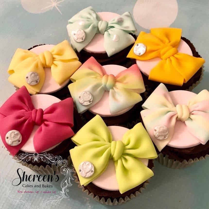 JoJo Bow Cupcakes Birthday Rainbow Pink Green Yellow