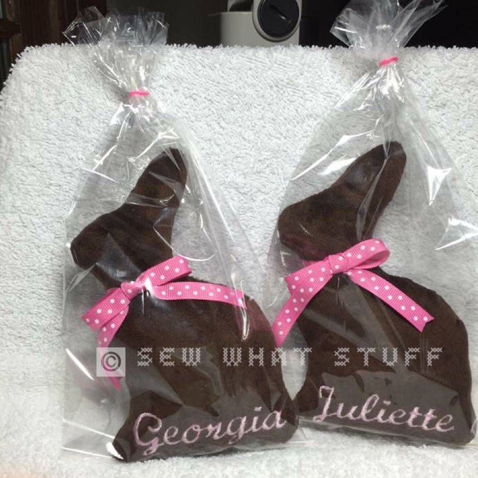 "Personalized ""Chocolate"" Bunny Stuffed Animals"