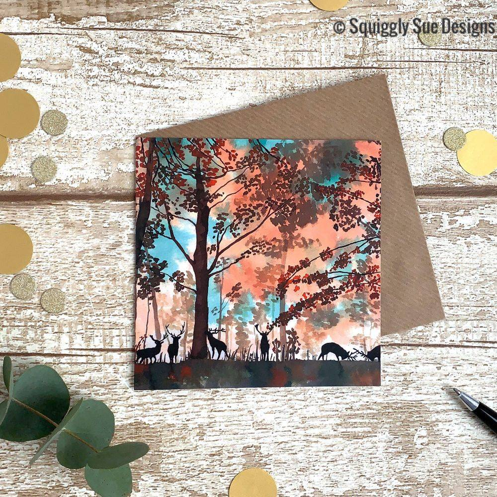 Tatton Park Autumnal Deer Stag Card