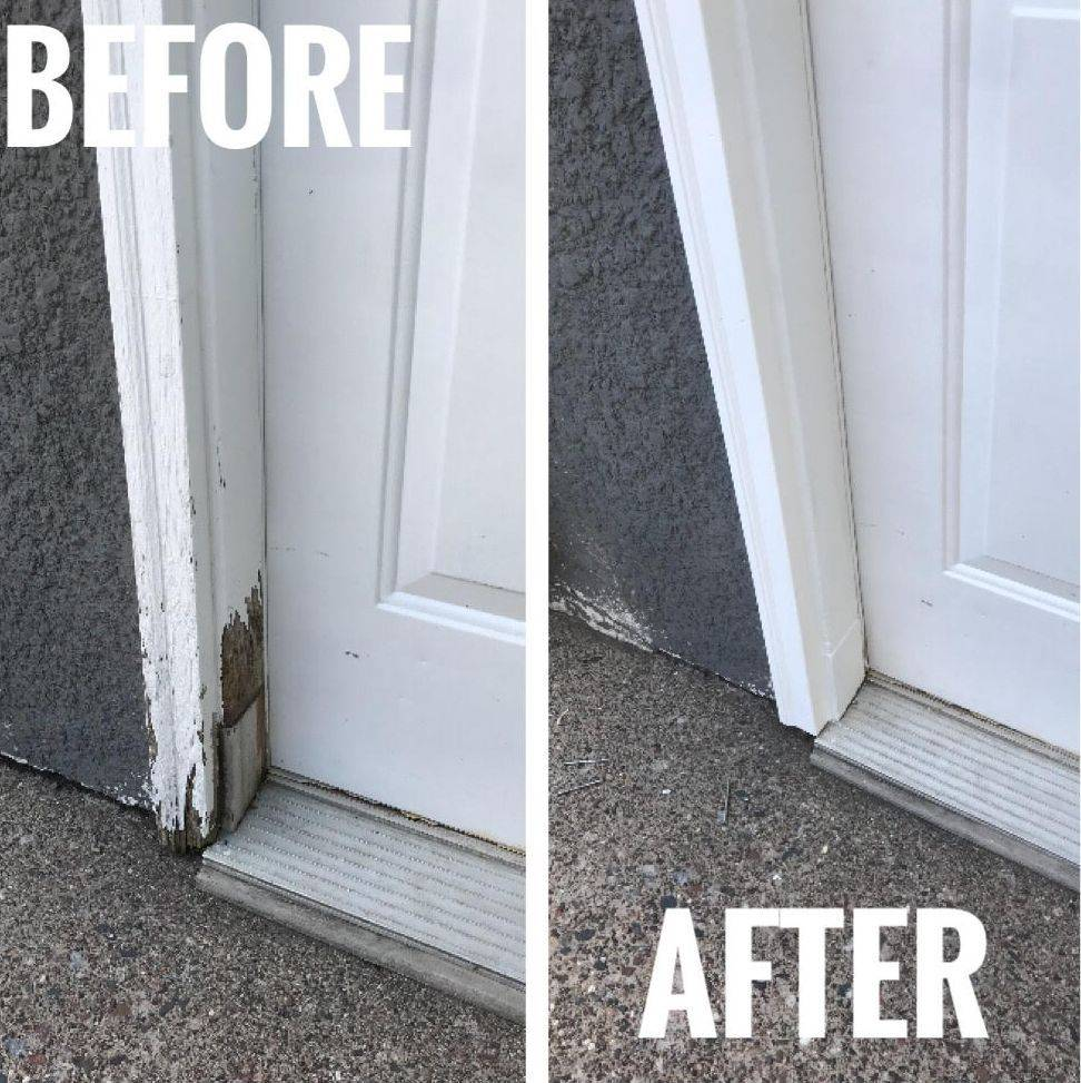 wood rot repair door trim rotten repair window and door repair