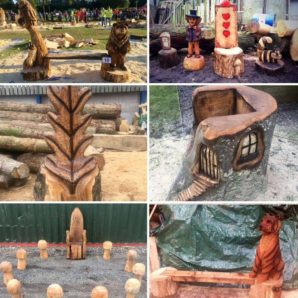 Bench Chainsaw Carving, Mike Burgess, Cheshire UK