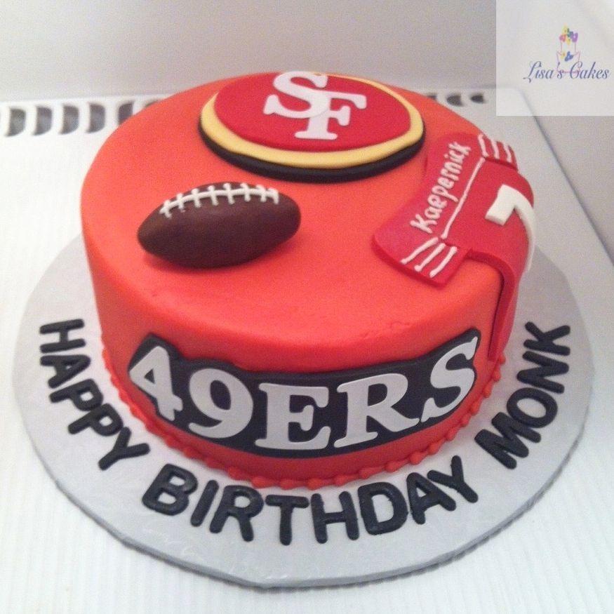 49ers  Football Birthday Cake