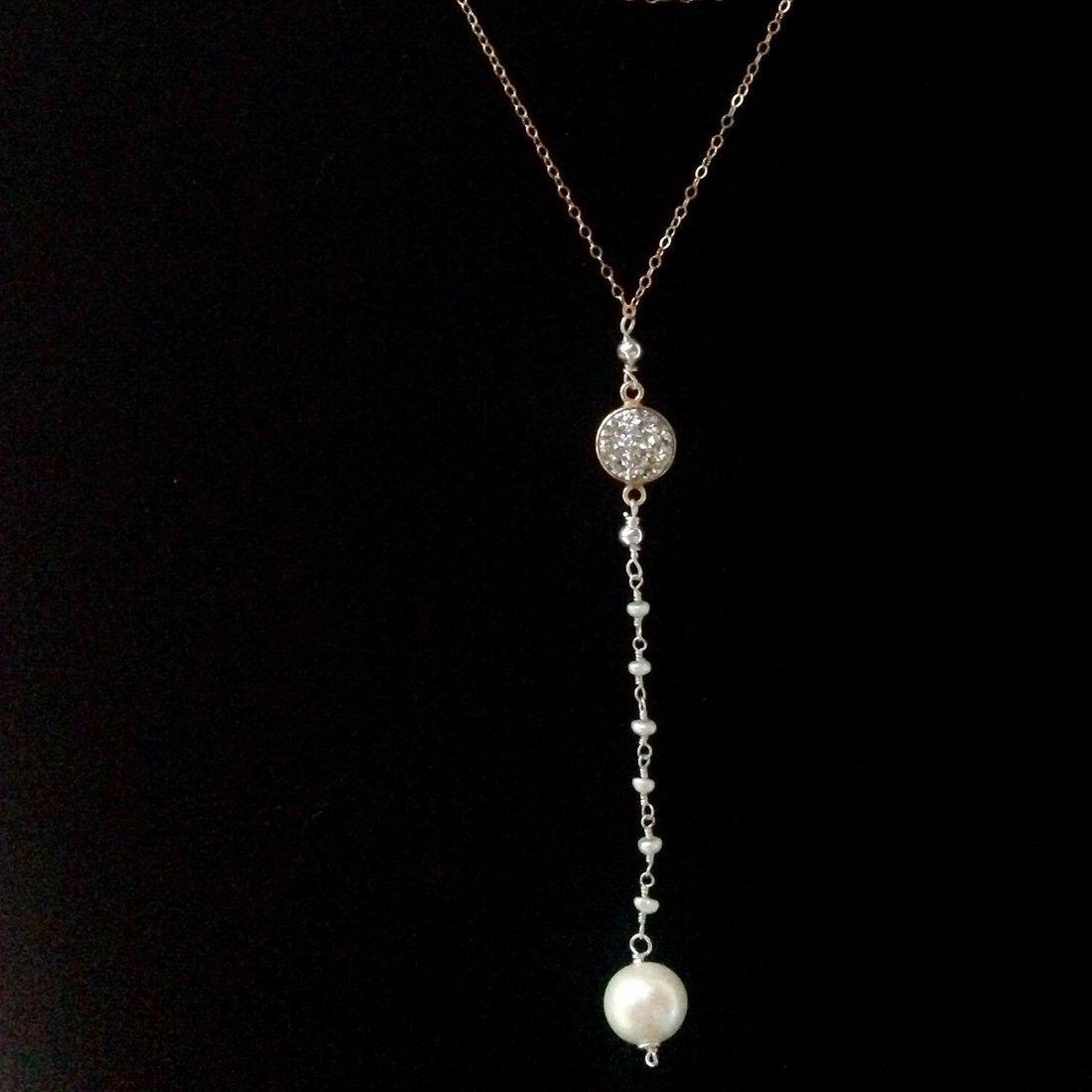 14k gold filled Y necklaces