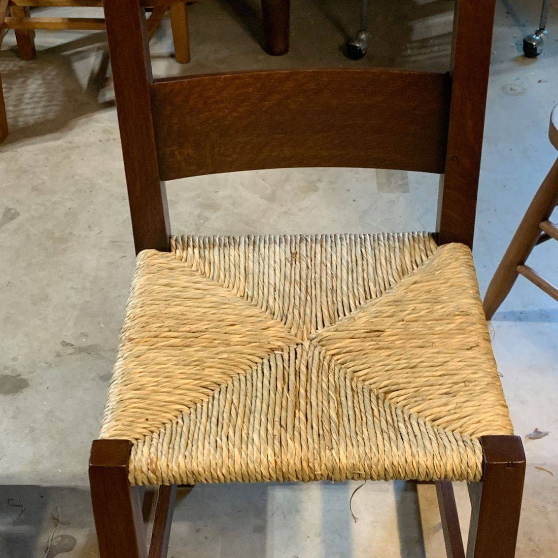 #7 Natural Rush on a Gustav Stickley chairby Hank's Cane & Rush Restoration