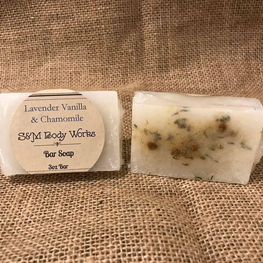 Shea Butter, Honey, Bar Soap, Lavender, Chamomile, Natural Soap