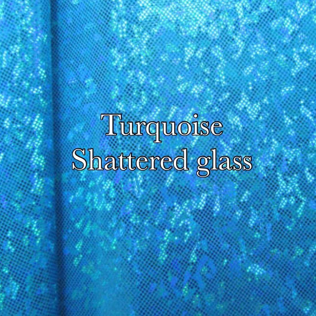Turquoise shatter glass