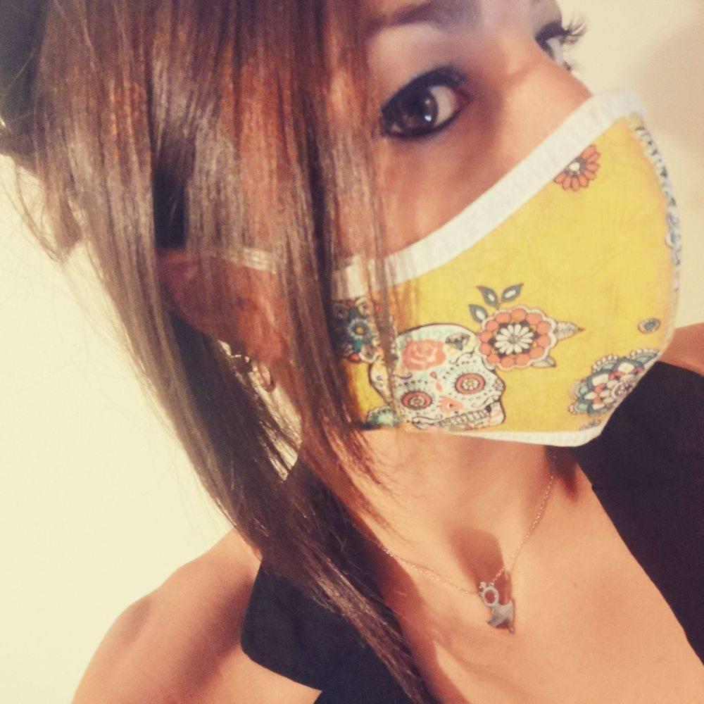 Masque tête de mort, Masque Rockabilly, masque tissu, masque, masque Covid, Mexican Skull, masque pin-up, Rock'n'Babe, rocknbabe, rocknbabeshop, rockabilly, Pinup, masque enfant, crâne,