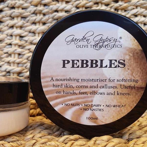 Pebbles moisturiser hands feet dry skin cracked heels