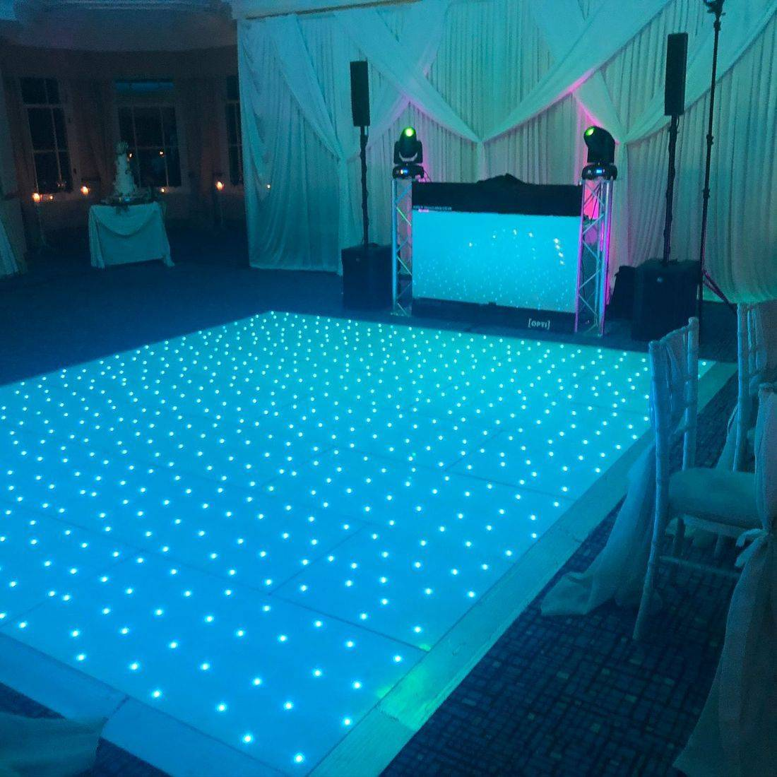 LED Dancefloor at Ardencote Manor Warickshire