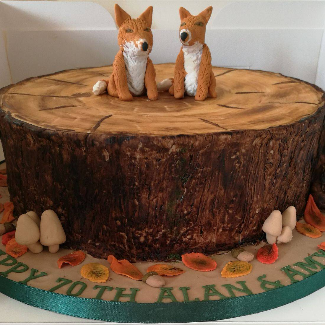Woodland  Fox Countryside themed Novelty  Birthday Cake