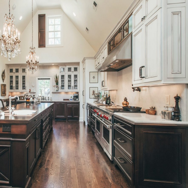 Custom kitchen cabinetry inside of a home in Murfreesboro, TN