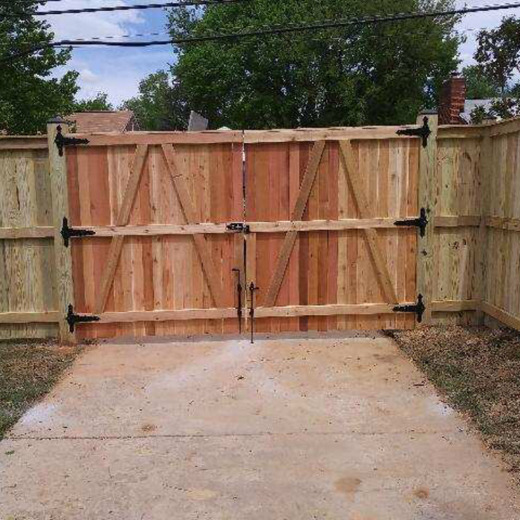Cedar wood gate