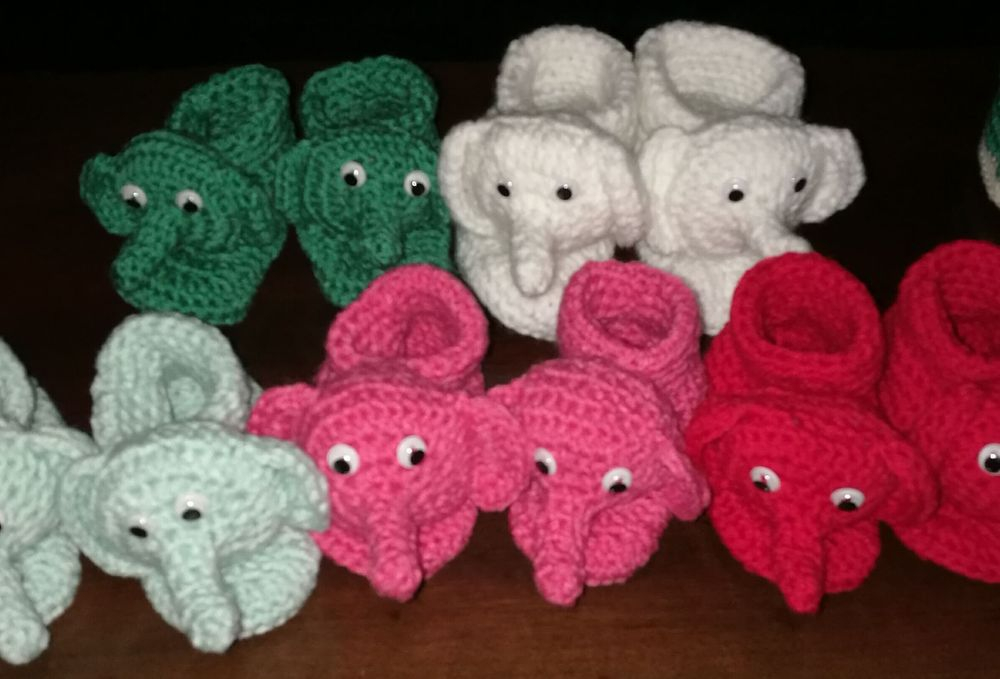 Elephant Slippers/Booties Handmade