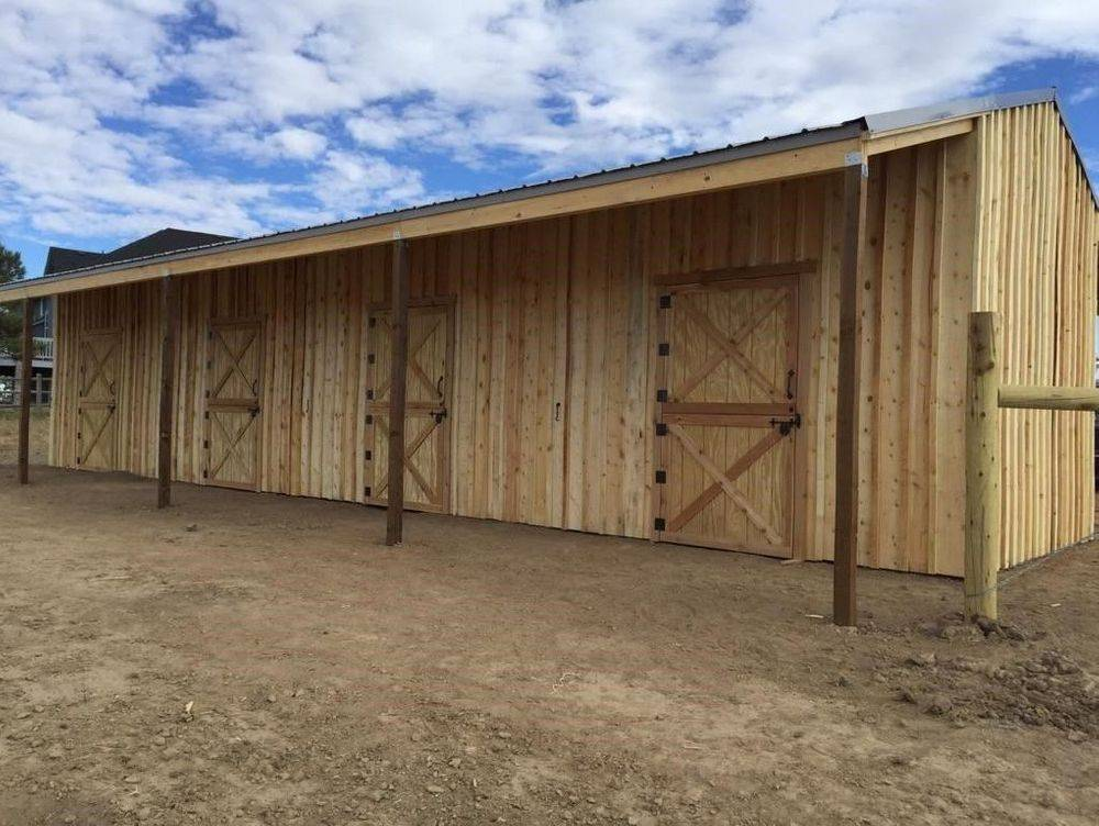 Row Horse Barn with metal roof
