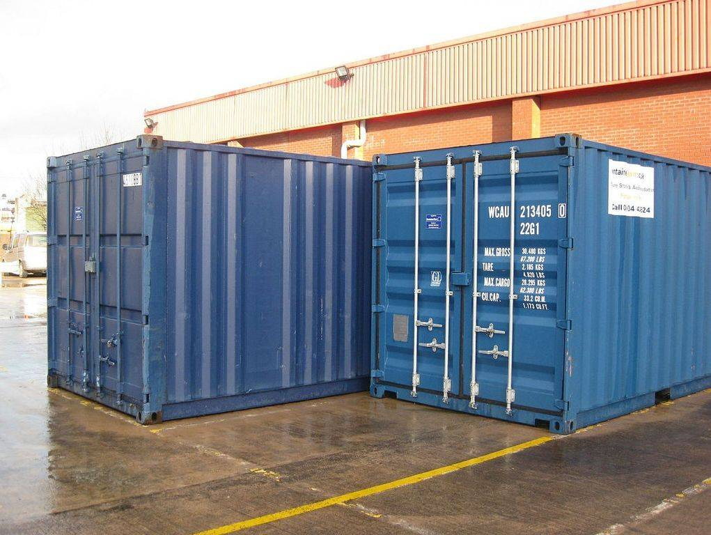"Simple ""One Trip"" dry goods 40' shipping container"