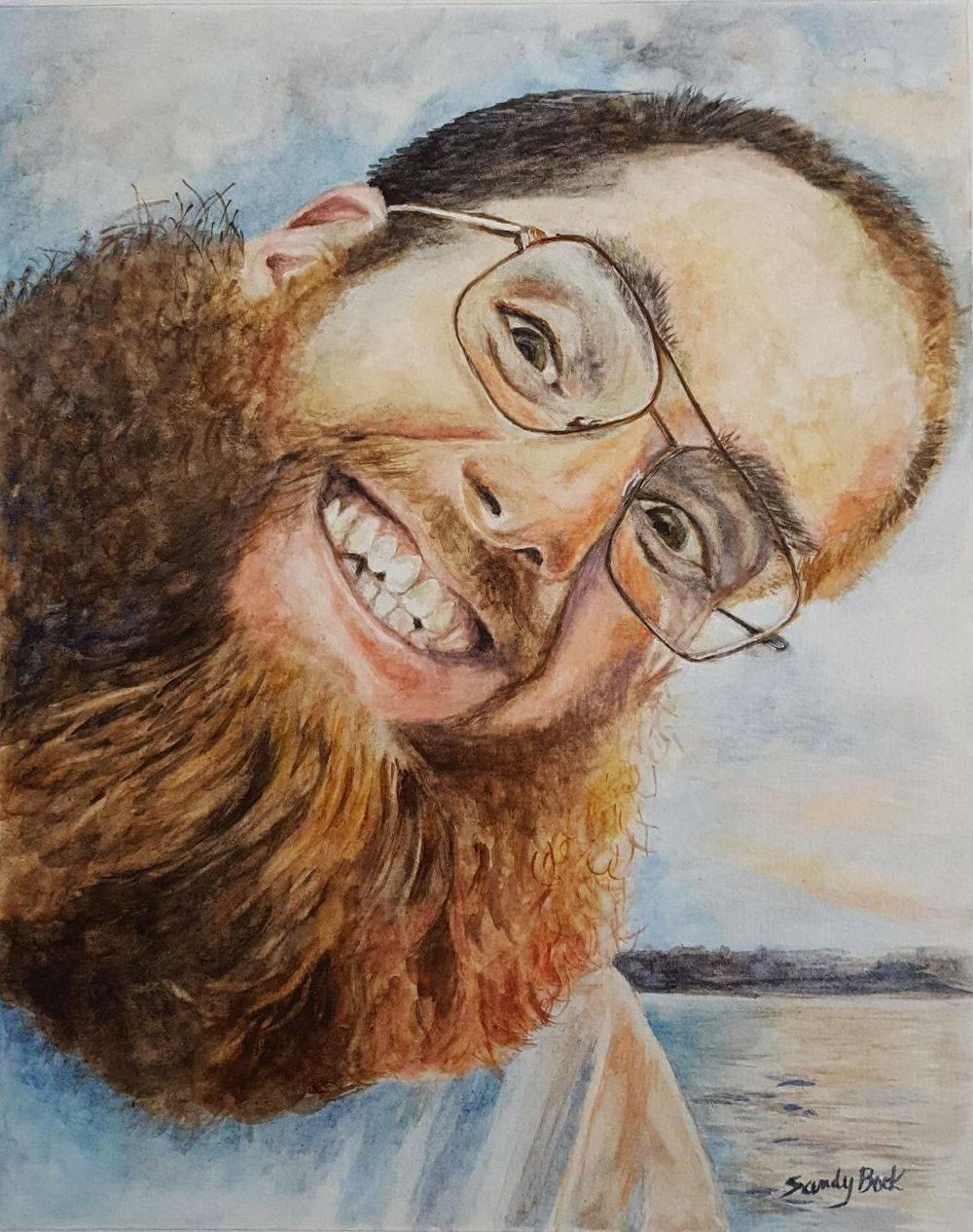 sandy bock, portrait artist, portrait art, watercolor, portrait illustration, custom portrait painting