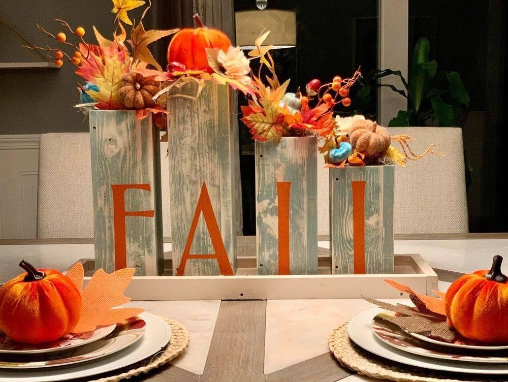 Handmade Fall Centerpiece