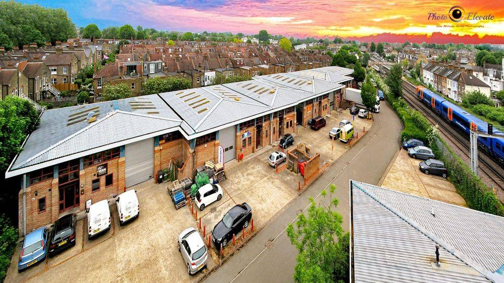 Mast drone aerial photography Essex commercial unit for sale