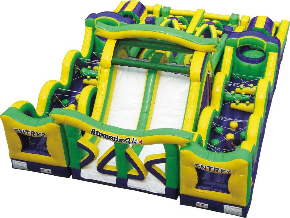 Double Line Obstacle Course and Slide