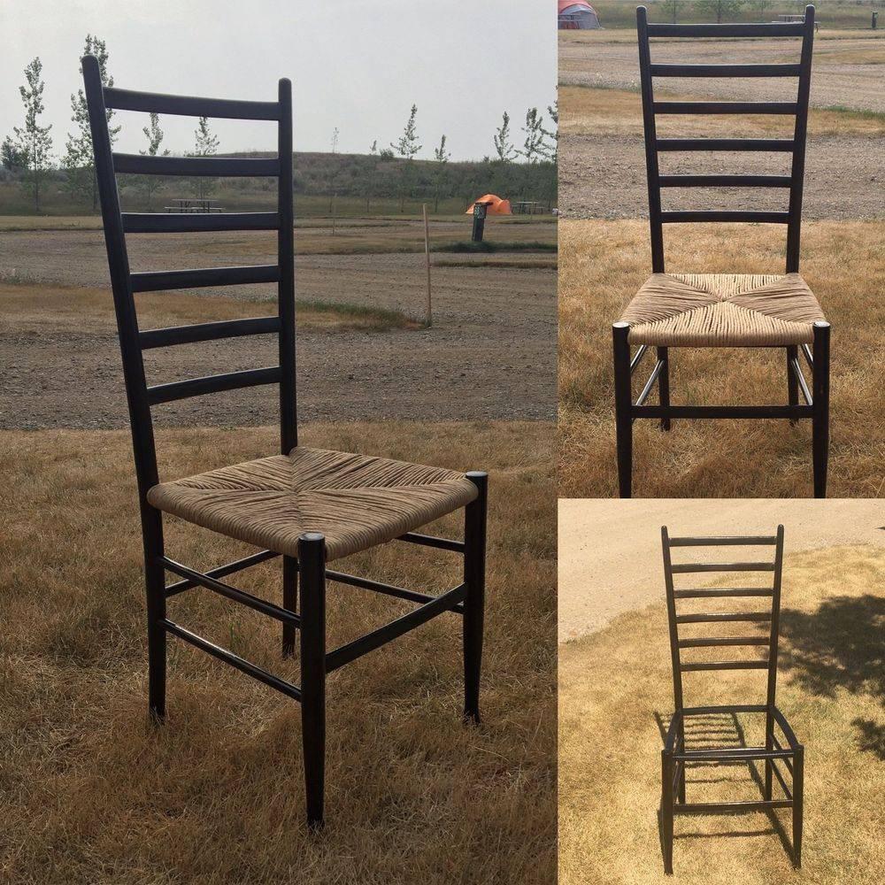 Gio Ponti Style High Leggera Ladderback Chair