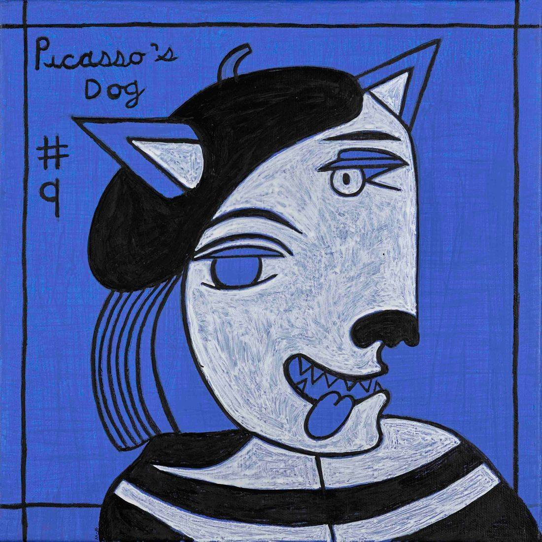 Picasso, Picasso's Dogs, Artists, Artists' Dogs, Beret, Picasso's Style of Dress, Anthropomorphism, Picasso's Blue Period