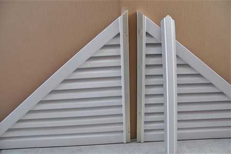 Easy Ship 2 piece triangle gable vent