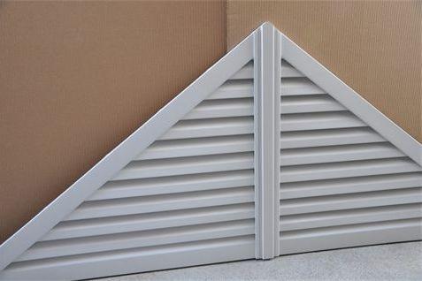 Aluminum triangle gable vent