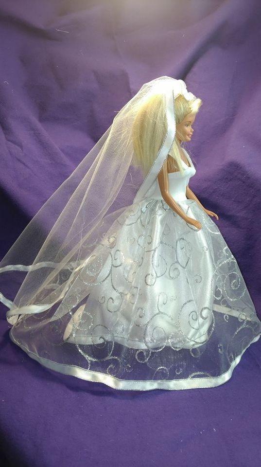 Barbie Wedding, Barbie Gown, Barbie clothes, Doll clothes, Fashion Doll clothes